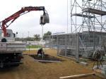 Fundamentarbeiten im Frankfurter Volksbank Stadion